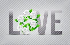 White love flowers illustration designs Stock Photos