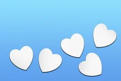 White lovely hearts Stock Photography