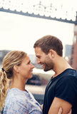 White Loving Couple Royalty Free Stock Photo