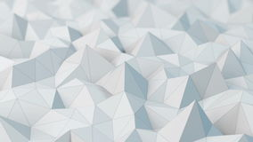 White low poly abstract background. stock video
