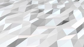 White low poly background loop stock video footage