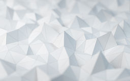 White low poly background Stock Photography