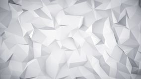White low poly 3D surface Royalty Free Stock Photography