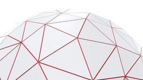 White low poly hemisphere. Background Royalty Free Stock Photo