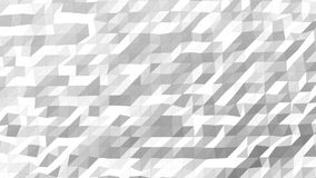 White Low Poly Pattern High Density. Seamless looping Background Pattern Motion Design stock video