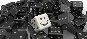 White lucky dice royalty free illustration
