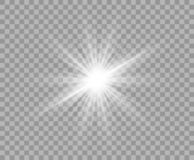 Free White Luminous Transparent Light. Vector Christmas Star, A Bright Flash Of Light. Glitter Isolated Transparent Background. Royalty Free Stock Photos - 134543128