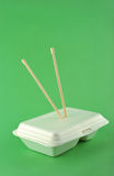 White lunch box Royalty Free Stock Image