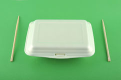 White lunch box Royalty Free Stock Images