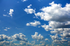 White lush clouds Royalty Free Stock Image