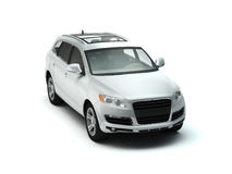 White luxory SUV top view Stock Photo