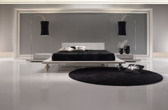 White Luxurious Bedroom. With details