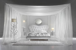 White Luxurious Bedroom Royalty Free Stock Photos