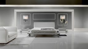 White Luxurious Bedroom Stock Images