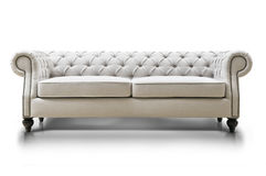 White Luxurious sofa Stock Images