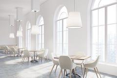 White luxury cafe interior Royalty Free Stock Photos