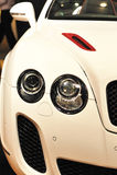 White luxury car Royalty Free Stock Images