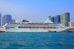 White luxury cruise ship Stock Photos