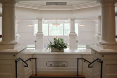 White Luxury Hall Entrance. Luxurious white hall entrance stairway Royalty Free Stock Photography