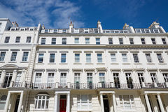 White luxury houses facades in London Stock Photography