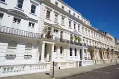 White luxury houses facades in London. Notting hill Stock Image