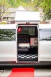 White luxury limousine Royalty Free Stock Photo