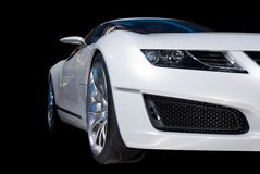 White Luxury Sports Car Stock Images