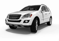 White Luxury SUV vector illustration