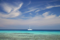 White luxury yacht Royalty Free Stock Image