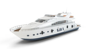 White luxury yacht Stock Photo