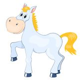 White mad horse Royalty Free Stock Image