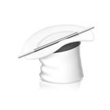 White magic hat. Vector illustration of White magic hat  on white. EPS10 Stock Image