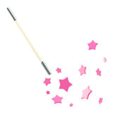 White magic wand with stars isolated Stock Photography