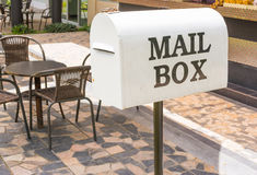 White Mail Box Royalty Free Stock Photo