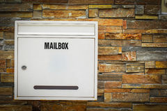 White mail box Stock Images