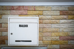 White mail box hang Stock Photography