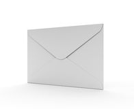 White Mail Envelope on the White Background Royalty Free Stock Photography