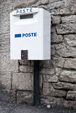 White mailbox, the inscription on the Italian Royalty Free Stock Images