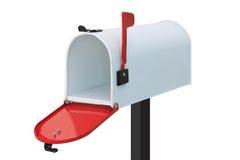 White mailbox. Isolated on white background Royalty Free Stock Photography