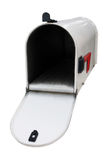 White mailbox w/open door Stock Photography