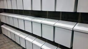 White mailboxes stock image