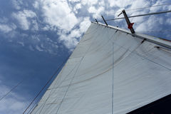 White main sail Stock Images