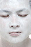 White makeup asian boy with different expressions Stock Image