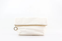 White makeup bag. Royalty Free Stock Photos