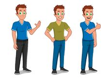 Man different poses Stock Images