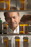 White male with prescription drugs Stock Images