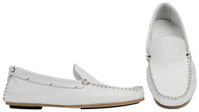 White male shoes Stock Photo