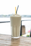 White malt milkshake Royalty Free Stock Images