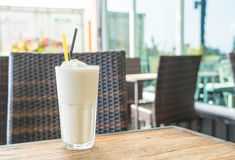 White malt milkshake Stock Photos