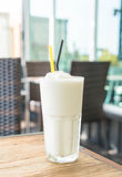 White malt milkshake Royalty Free Stock Photo
